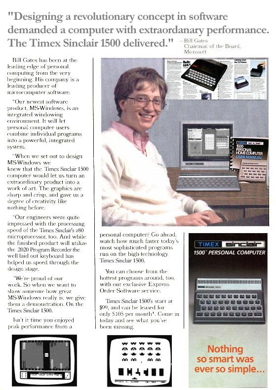 Bill Gates hirdetés